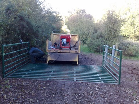 cattle grid installation