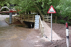 heightington ford timber bridge concrete abutments